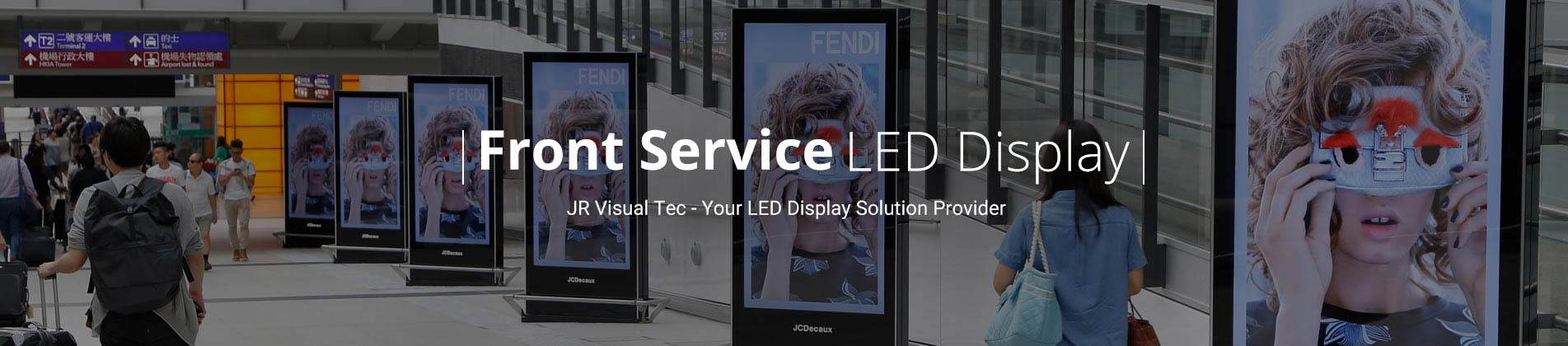 front service led display