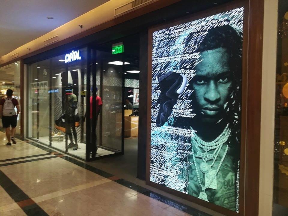 entre semanal Buscar a tientas  JR Visual Tec newest LED screen installation for Adidas shop in 2018   JR  Visual Tec